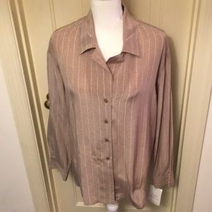 Evan Picone 100% Silk Blouse NWT
